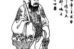 Dong Zhuo from a 19th century Qing Dynasty edition of the Romance of the Three Kingdoms, Zengxiang Quantu Sanguo Yanyi (ZT 2011)