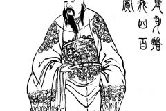 Han Emperor Xian from a 19th century Qing Dynasty edition of the Romance of the Three Kingdoms, Zengxiang Quantu Sanguo Yanyi (ZT 2011)