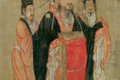 Liu Bei, the Emperor of Shu Han (Tang dynasty painting by Yan Liben) from the Thirteen Emperors Scroll (Yan c. 650)